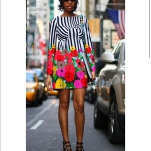 Absolutely stunning TIBI striped and floral dress